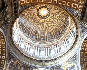dentro della cupola di San Pietro