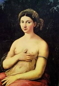 La Fornarina di Raffaello dentro Palazzo Barberini a Roma